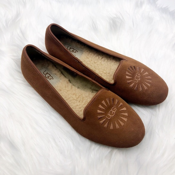 033416ac1918 Ugg Chestnut Suede Shearling Loafers
